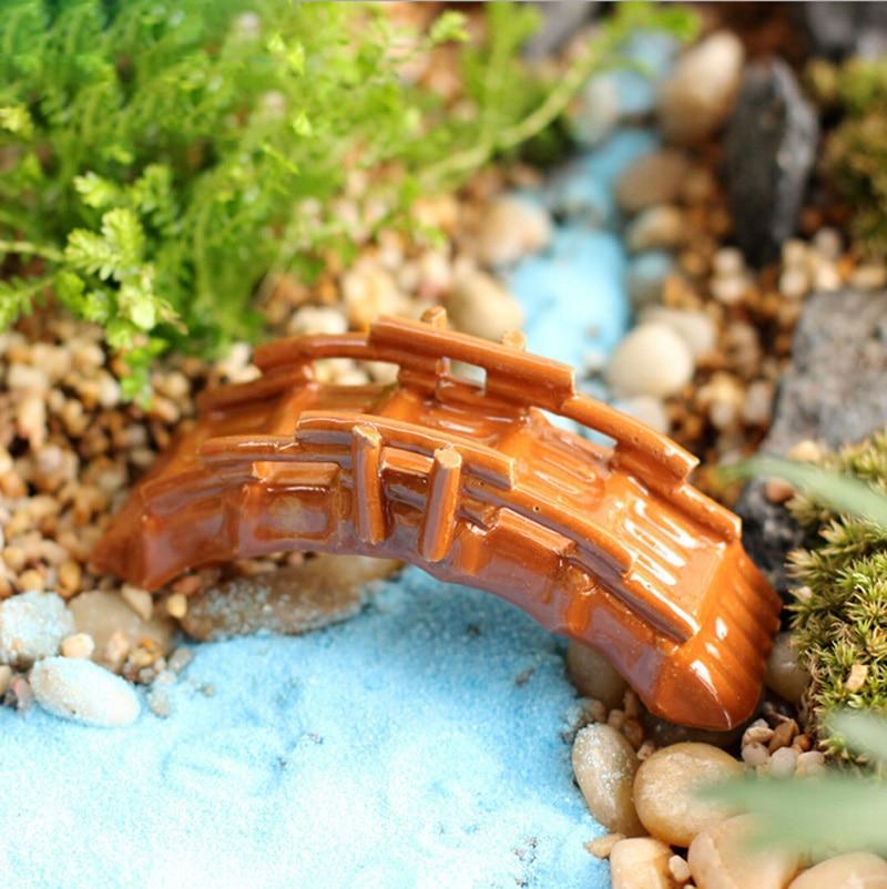 ̀ •́ Bambou Pont décorative Chiffres Figurine mini fée ...