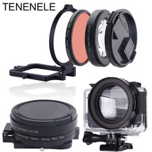 Sport Camera Filters 58mm Red Filter With Macro Lens Set For GoPro Hero 6/5 Black Underwater Diving Camera Filters For Hero 2018