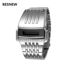 Marcas de Relojes de Los Hombres de Moda BESNEW Digital LED Completo Acero Hombre Reloj Militar Deportes Hombres Reloj de Cuarzo Relogio masculino