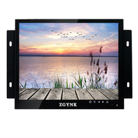 ZGYNK 10 inch open frame industrial monitor metal embedded display HDMI high definition multi function display