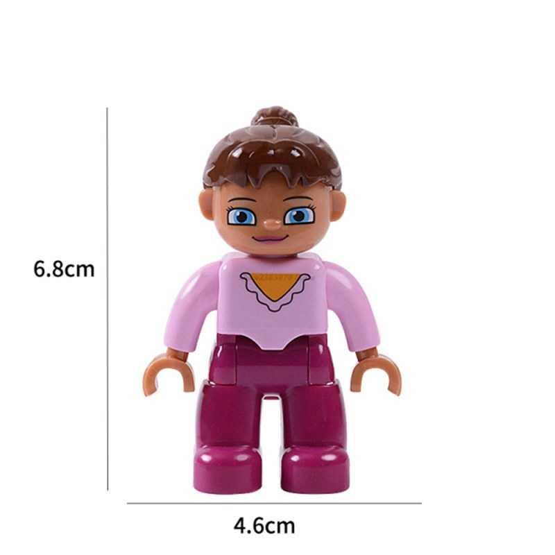 Legoing Duplo klocki figurki członek rodziny pracownik policja zwierzęta pociąg rysunek klocki dla dzieci prezenty dla dzieci Legoings Doll