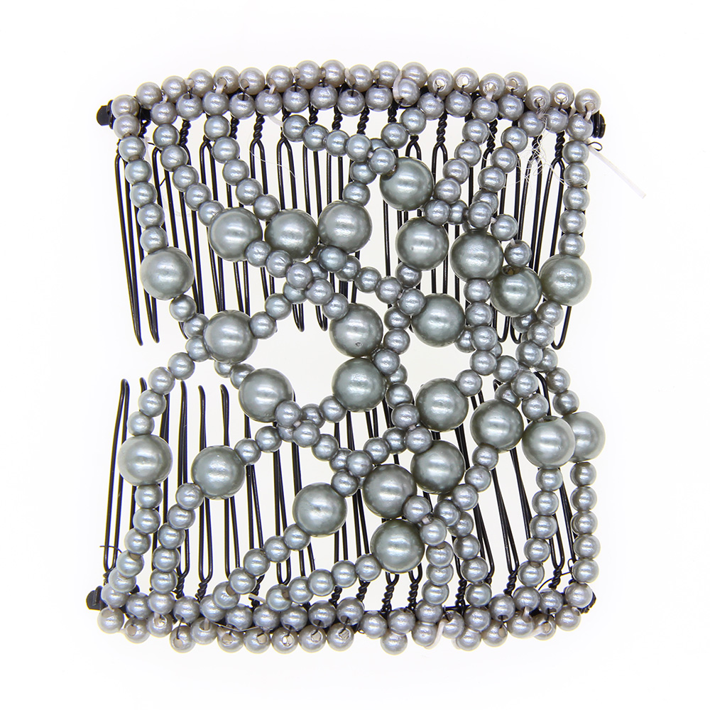 Women/'s Fashion Multi-Wear Double Hair Comb Butterfly Interlocking Stretchy Beaded Hair Comb Vintage Stylish