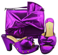 Purple Matching Italian Shoes and Bag Set Nigerian Shoe and Bag Set for Women Italian Shoe with Bag African Women Shoes