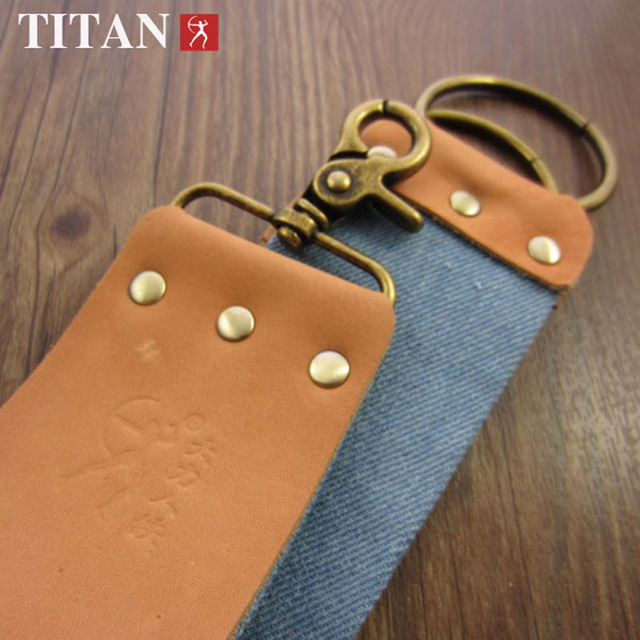 Titan Razor Strop Cowhide Canvas 2 Layer For Sharpening Straight Razors Grinder Cloth