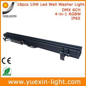 Image 5 - 4 stks/partij 18X10 w 4 IN 1 Outdoor Dmx LED Wall Washer Licht voor Tuin Hotel Bruiloft party Achtergrond IP65 Waterdichte Lamp
