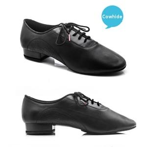 Image 2 - Chaussures de danse BD pour hommes, grande promotion, chaussures carrées en cuir véritable pour salle de danse sociale, pour salle de danse latine, chaussures modernes et tendance, 309