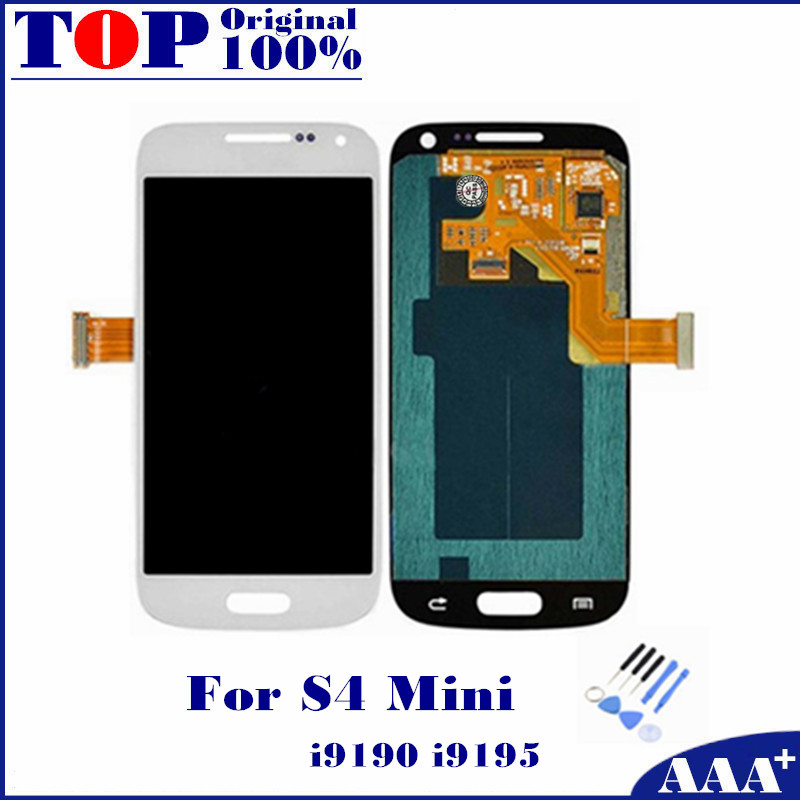 For Samsung Galaxy S4 Mini I9190 i9192 i9195 LCD Display font b Touch b font font