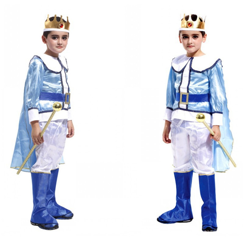 Kids Boy Anime fairy tale Prince Charming Cosplay Halloween king Costume Children's day Masquerade Party Stage performance dress