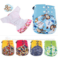 Pororo New AI2 Reusable Gladbaby Baby Diapers Inserts Bamboo Couche Lavable Fralda PUL Cloth Pocket Print Merries Diaper Nappy
