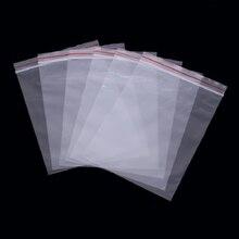 Ziplock bag wholesale Transparent food sealed thick plastic sealing pocket PE bone packaging 100 Pack