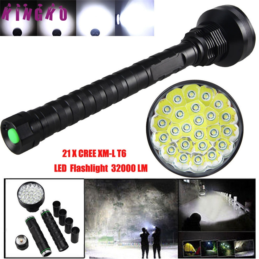 High Quality 32000LM 24x XML T6 LED Flashlight 5 Modes Torch 26650/18650 Camping Lamp Light high quality 28000lm 15x xml t6 led flashlight 5 modes torch 26650 18650 camping lamp light