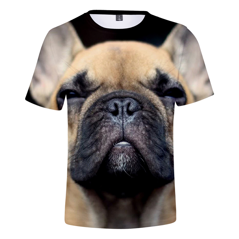 Men's Clothing T-shirts Aggressive Summer 3d T Shirts Funny Cartoon French Bulldog Printed Fashion Men Women T-shirt Tops O-neck Short Sleeve 3d T-shirts Tee Shirt