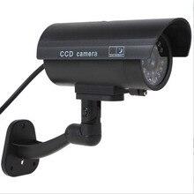 Fake Dummy CCTV Security Camera Simulation Camera with Flashing LED Light SL@88