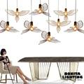 Lampade a sospensione Sala da pranzo moderna In acciaio inox Hollow Uccello piccione Oliva ramo di Pace e di amore appendere le luci camera da letto