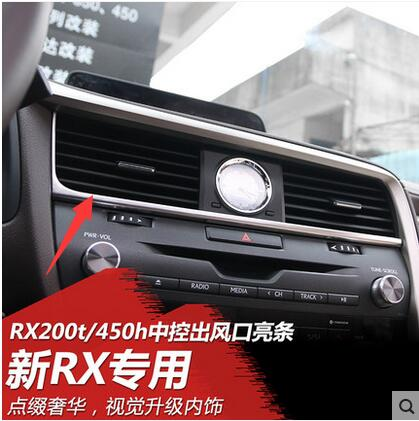 For LEXUS RX350 RX450 2015-2016In the control of the outlet decorative stone clocks and watches frame sequins modified interior aosrrun decorative cover control transmission stainless steel sequins modification is suitable for the for lexus ct200h