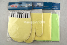 Alice Guitar Bass Piano Instrument Cleaning Cloth Polish Fiber Cloth Glove 4 Types Free Shipping