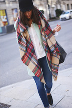 Free Shipping New Fashion Brand Winter Quality Ladies Scarf Large Multi Coloured Checked Plaid Tartan Wrap