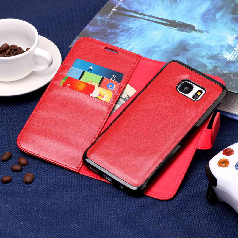 Misolocat для samsung Galaxy S7 край G9350 флип чехол Роскошный кожаный бумажник Фолио Магнит Капа принципиально съемная