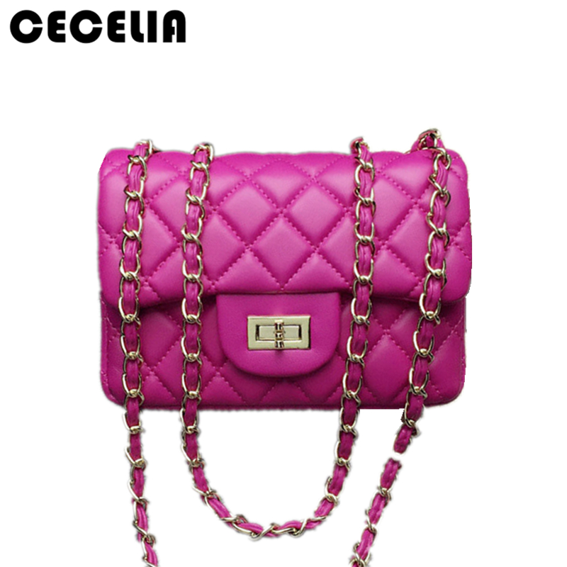 Cecelia 2017 New Fashion leather messenger chain bags brand desinger rhombic women mini Tote Clutch bag handbag crossbody bag 2017 fashion all match retro split leather women bag top grade small shoulder bags multilayer mini chain women messenger bags