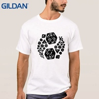 Loose Men T Shirt Dungeons And Dragons Yin Yang God And Evil And Sunlight Hip Black