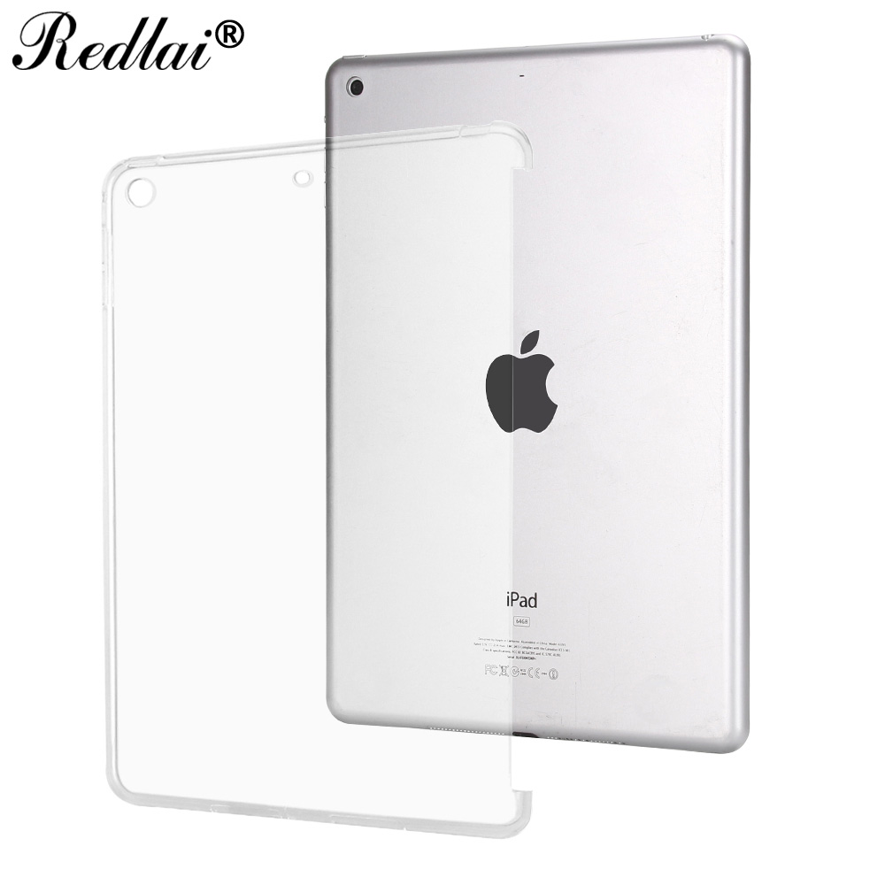 Case for New iPad 9.7 inch 2017,Redlai Ultra-thin Soft TPU Transparant Can See Logo Back Cover Case For Apple New iPad 2017 redlai for ipad pro 10 5 inch 2017