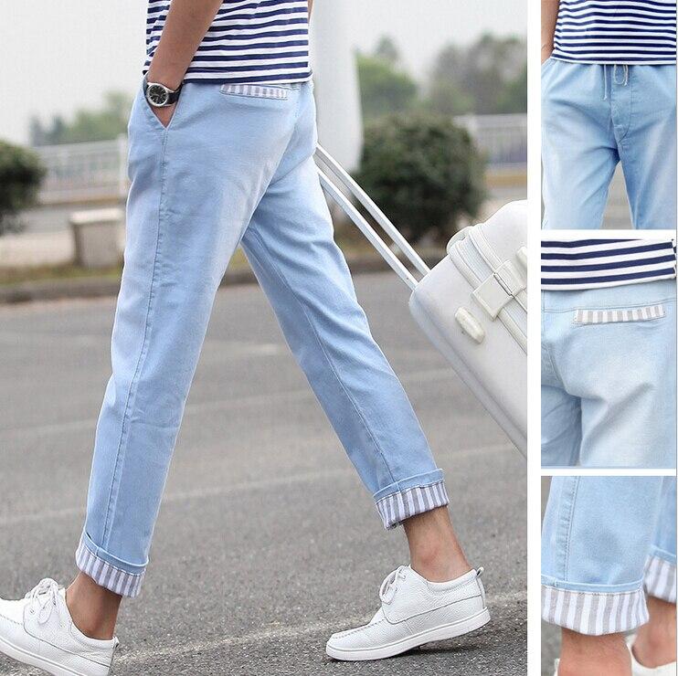 light jeans outfit men