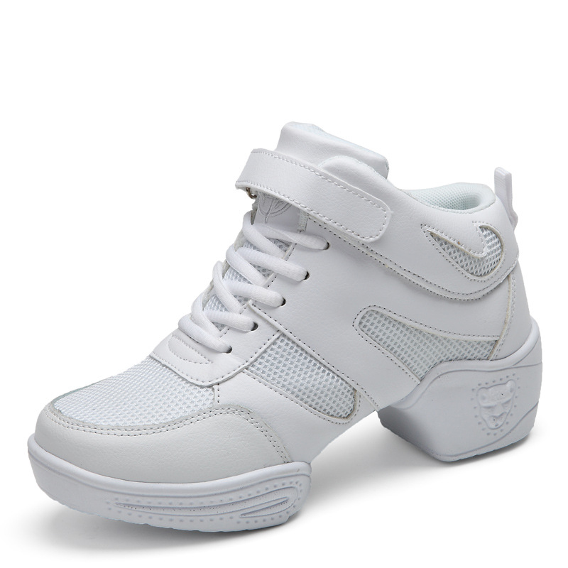 Con Jazz Para Moderno Suave Baile Deportivas De Mujer Zapatos Cuero Genuino Zapatillas Suela K1JcTlF