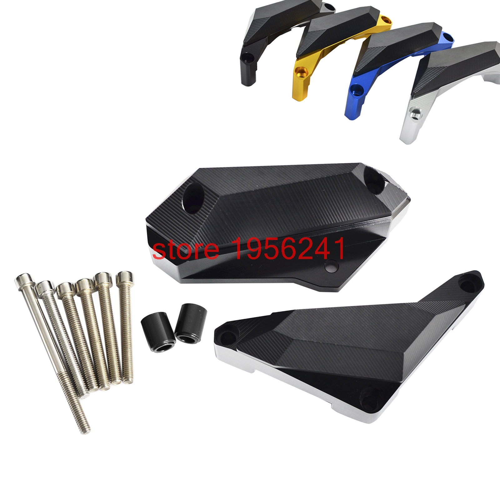 Motorcycle Engine Frame Slider Stator Case Guard Cover Protector For Yamaha YZFR3 YZF-R3 2015 2016 YZFR25 YZF-R25 2013 2014 2015 2014 2015 2016 yzf r3 r25 abs injection fairing kit for yamaha yzfr3 yzfr25 pearl white complete fairings body kit cowling