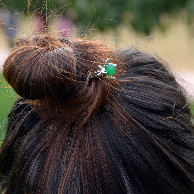 Ethnic Silver Hairpins 3
