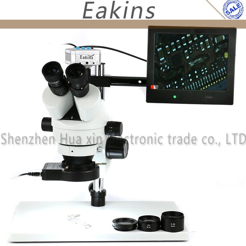 3.5X-90X Zoom Simul Brenn Trinocular Stereo Mikroskop 16MP HDMI USB Mikroskop Kamera 144 stücke Ring Microscopio Beleuchtung