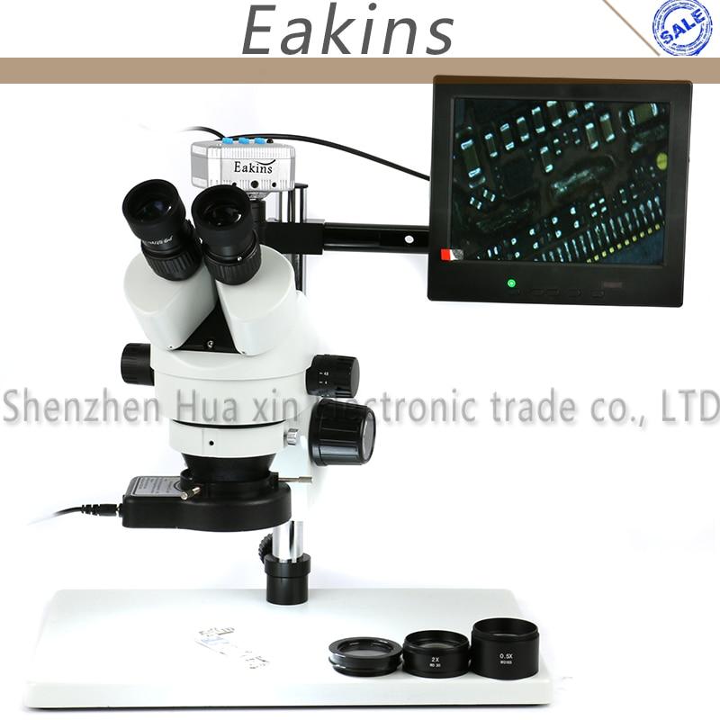 3.5X-90X Zoom Simul Focal Trinoculaire Stéréo Microscope 16MP HDMI USB Microscope Caméra 144 pcs Anneau Microscopio Éclairage