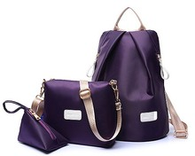 3 pcs/set Oxford fabric women's backpack female casual backpack woman bag one shoulder cross-body bag small