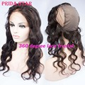 "Pre Plucked 360 Lace Frontal With Wig Cap 13""x4"" Body Wave Brazilian Virgin Human Hair 360 Degree Lace Frontal Closures With Cap"
