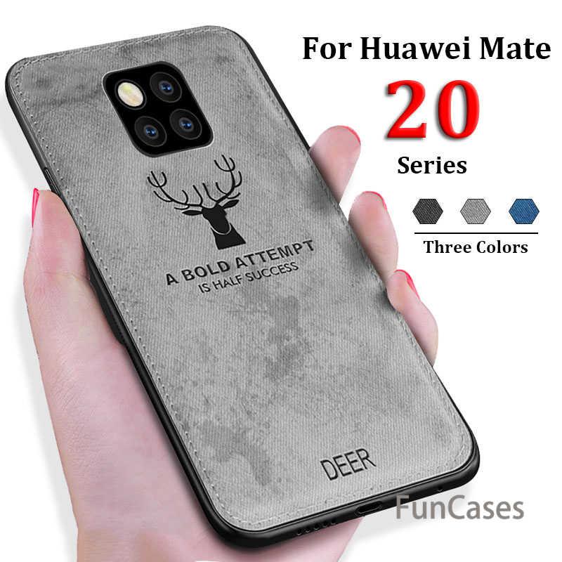 Роскошный чехол для телефона huawei P Smart 2019 Mate20 P20 Lite Pro Honor 8X8 9 lite 10 7A 7C Nova 3 3i тканевый мягкий чехол с оленем