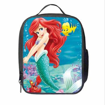 The Little Mermaid Ariel Printed Horse Lunch Bags for Women Kids Thermal  Lunch Bag Female Male Picnic Bags for Food Meal Boxes