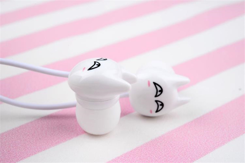 Chiclits Earphone Cute cartoon cat 3.5 mm stereo with mic In-ear headset for iPhone Xiaomi Girls Kids student for Mp3 Mp4 gifts (12)