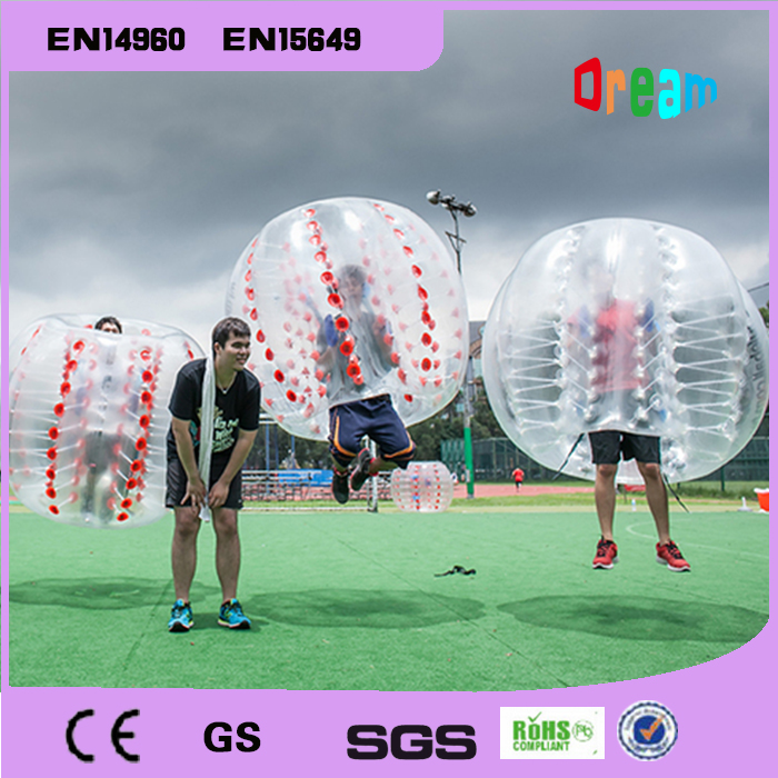 Free Shipping 1.5m PVC Inflatable Bubble Soccer Ball Air Bubble Football Inflatable Bumper Ball Boby Zorb Ball For Outdoor Fun