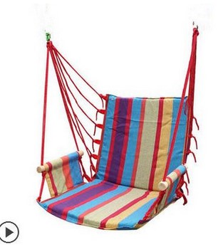 hammock outdoor  dormitory bedroom swing send tying pouch colors Swinging hanging chair hammock thick canvas garden swing for children baby inflatable hammock hanging swing chair kids indoor outdoor pod swing seat sets c036 free shipping