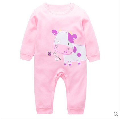 2018 New Arrival Baby Newborn clothes Jumpsuit Long sleeve Baby rompers Animal Rabbit Printed Baby boy and girl Romper Pajamas цена