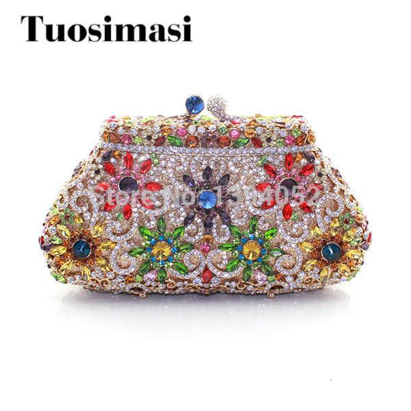 Красивые женские свадебные сумки ручной работы с кристаллами Модные женские сумочки женские вечерние сумки