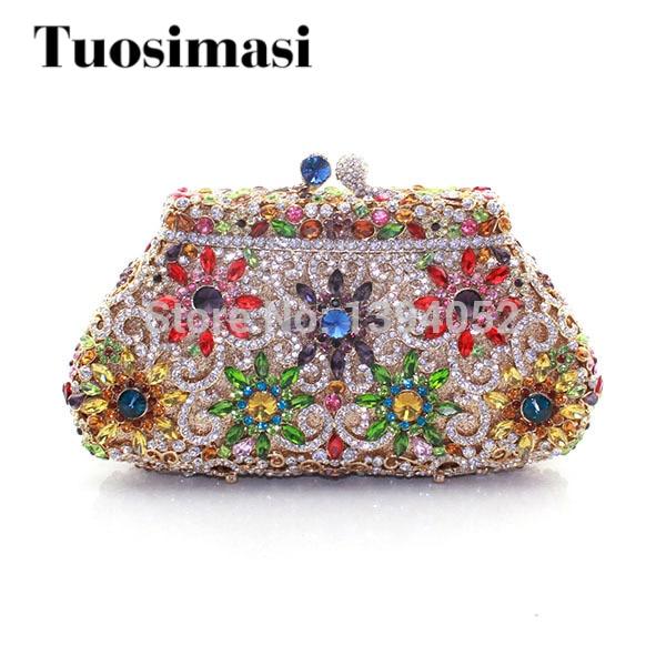 3ead19cae56e Beautiful Handmade Crystal Ladies Bridal Wedding Cutch Bag Fashion Ladies  Handbags Woman Party Bags