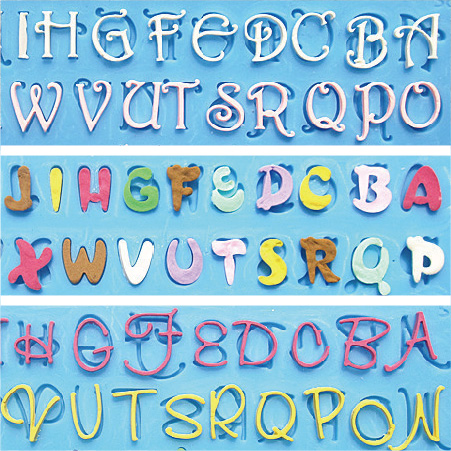 Cake Decorations Letters And Numbers : 3pcs/lot Numbers and letters alphabet Fondant cake molds ...