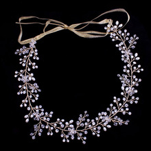 Фотография Hot sale Elegant Classic Crystal and Pearls Wedding Headpiece Hair Vine Hair accessories Headband Bridal Headdress