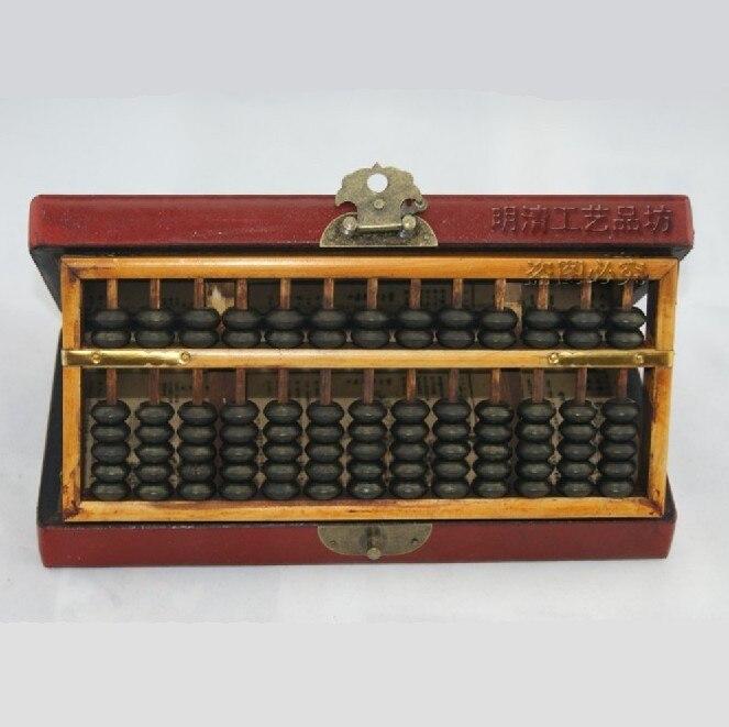 (13 rangées) exquis chinois classique fait à la main Fine en bois Dragon Phoenix Abacus et boîte