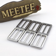 4pcs Meetee 38mm Metal Buckle Bags Rectangle Adjust Buckles Strap Webbing Belt Tri Glide Slide for Accessories F2-15