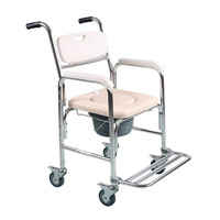 Tcare Multi Function Transport Wheelchair Can Be Used As Shower Chair Padded Toilet Seat And Wheelchair
