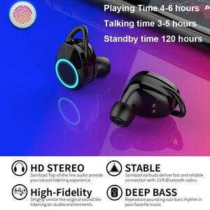 Image 4 - Écouteurs stéréo TWS Bluetooth 5.0, Mini oreillettes sans fil, étanches, avec boîte de chargement