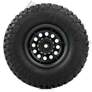 Image 4 - Ensemble pneus et jantes en caoutchouc de 1.9 pouces, pour roue en plastique 1:10 RC, chenille axiale, SCX10 90046 AXI03007 Tamiya CC01 D90