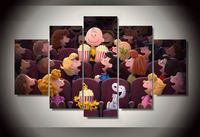 Painting By Numbers Painting By Numbers Cuadros Framed The Peanuts Cinema Picture Wall Art Room Decor