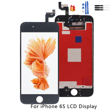 For iPhone 6S LCD Display Touch Screen Digitizer Replacement Parts For iPhone 6S LCD Display Screen Phone Parts Free  Free Tools new 7 for texet tm 7086 lcd display screen 164 100mm tablet pc repairment parts free shipping